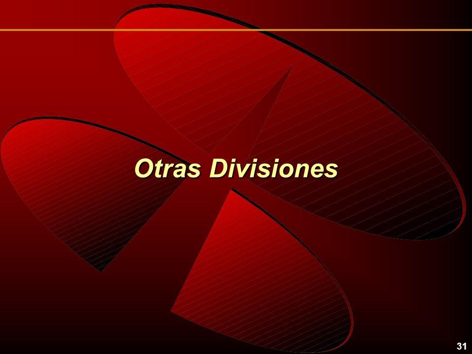 31 Otras Divisiones