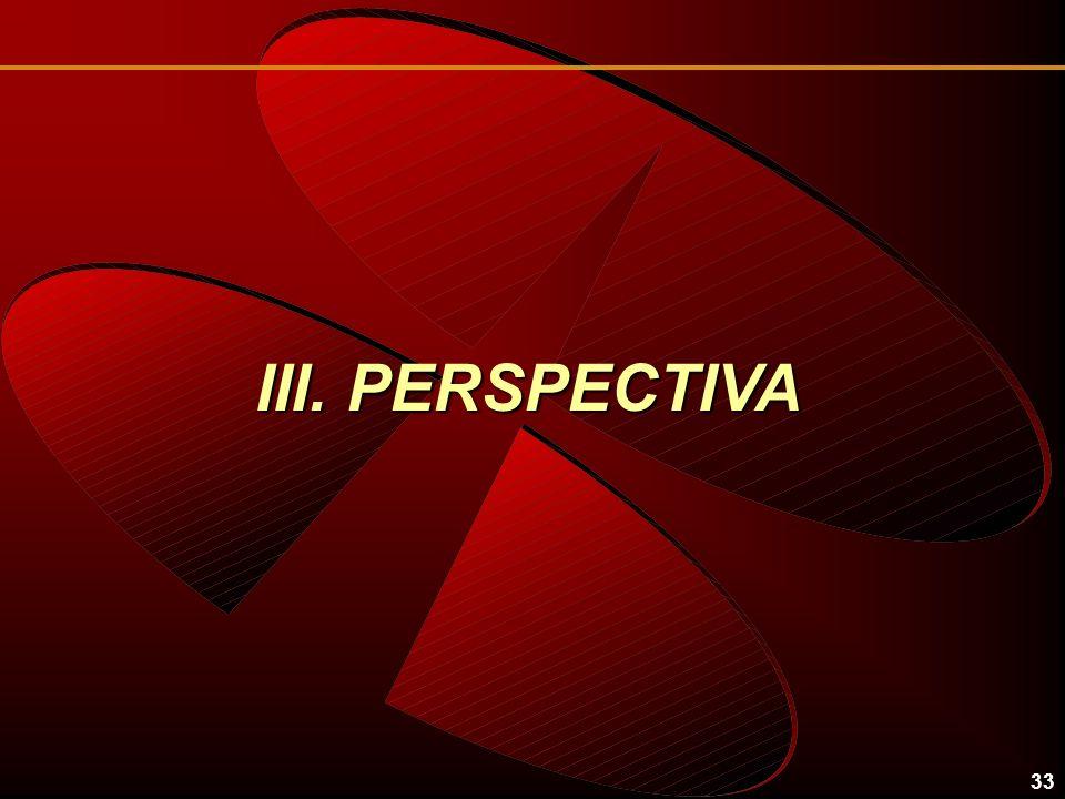 33 III. PERSPECTIVA