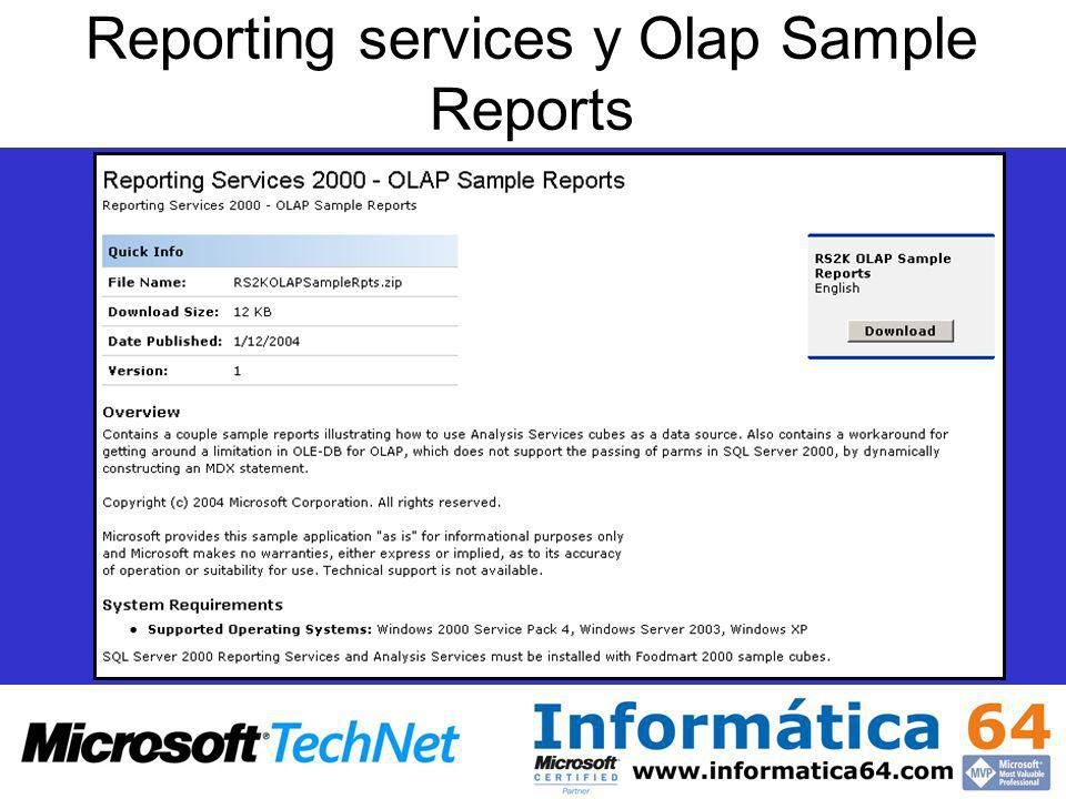 Reporting services y Olap Sample Reports