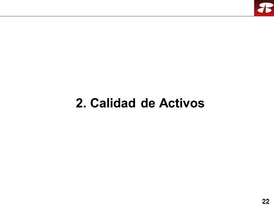 22 2. Calidad de Activos