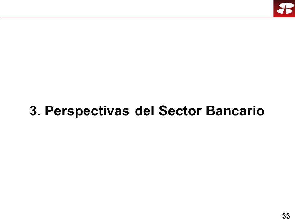 33 3. Perspectivas del Sector Bancario