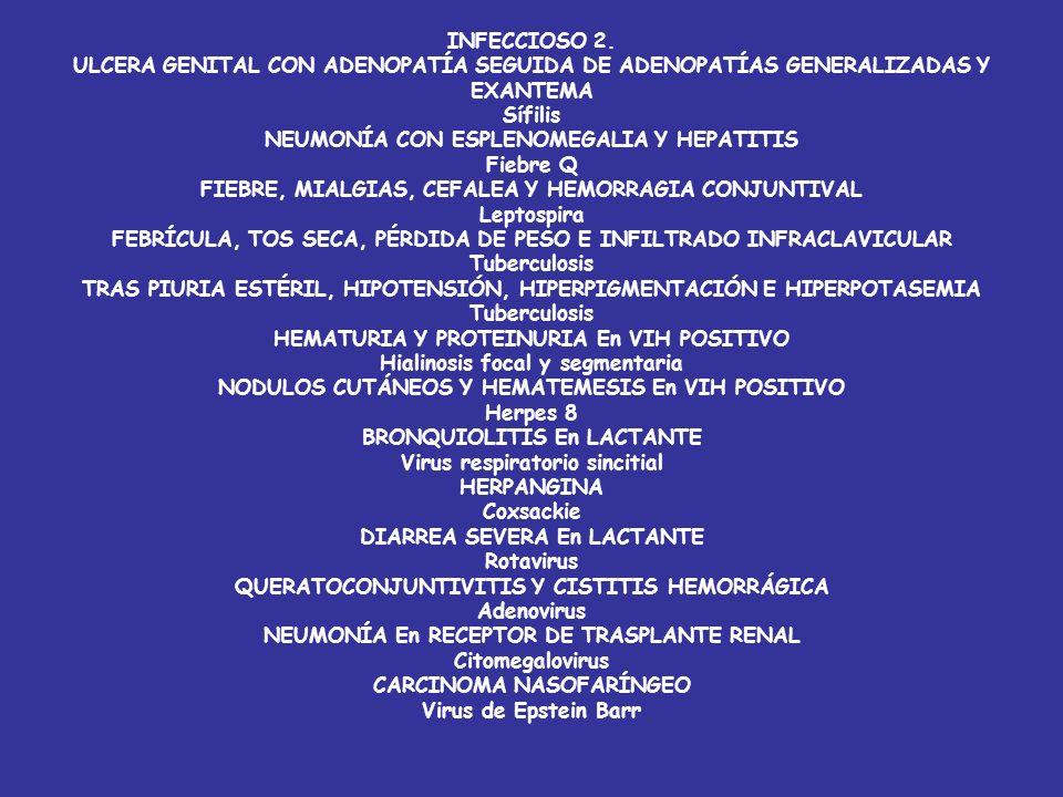INFECCIOSO ESPONDILITIS En PACIENTE CON INFECCIONES URINARIAS DE REPETICIÓN E.coli HIPOTENSIÓN, TAQUICARDIA, FALLO RENAL, MIOCARDITIS Y DISTRÉS REPIRA