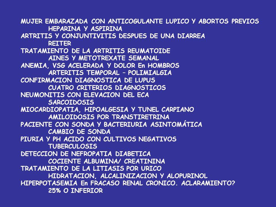 HEPATITIS CON GOT/GPT MAYOR DE 2 ALCOHOLICA ANTICUERPOS ANTI MICROSOMAS DE HIGADO Y RIÑON HEPATITIS CRONICA ACTIVA AUMENTO DE ALFA-FP En PACIENTE CON