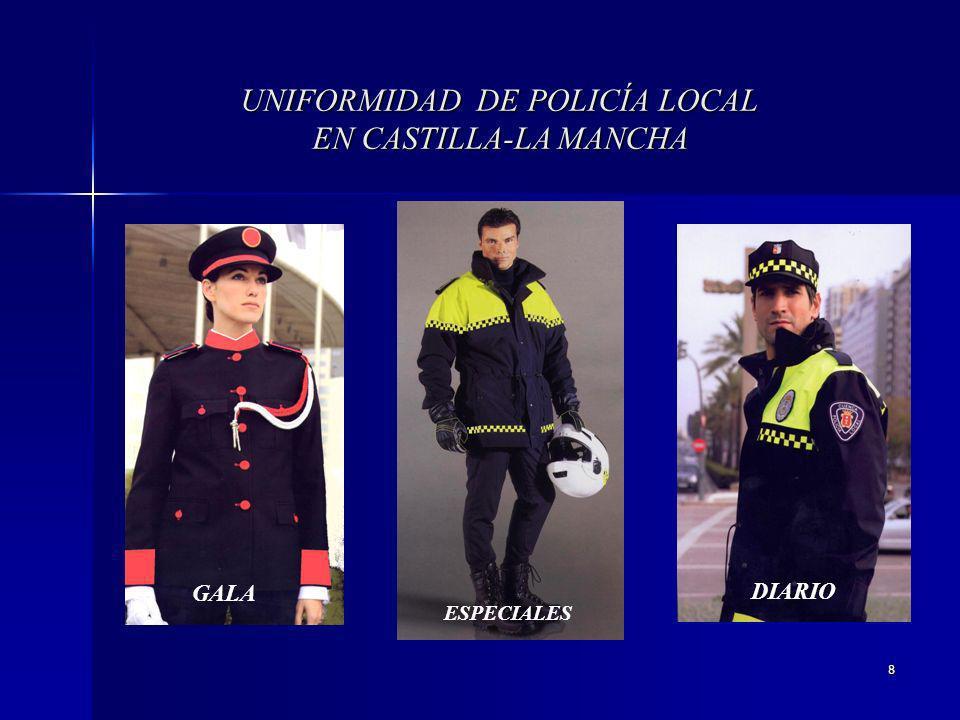 8 UNIFORMIDAD DE POLICÍA LOCAL EN CASTILLA-LA MANCHA GALA ESPECIALES DIARIO