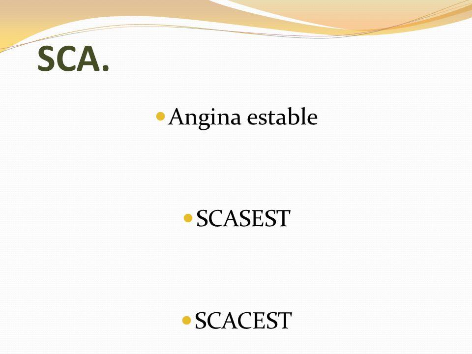 SCA.ANAMNESIS. Cardiopatía isquémica. FRCV: DM, HTA, DL, tabaquismo… Dolor típico.