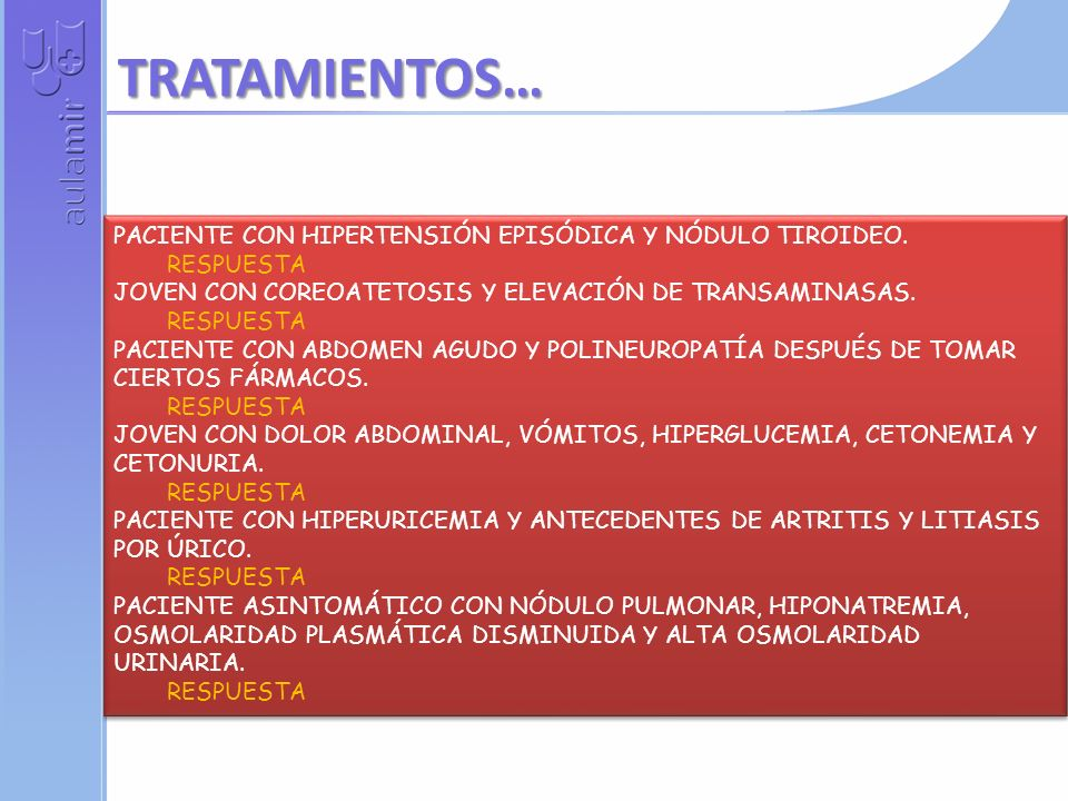 PACIENTE CON NÓDULO TIROIDEO Y ADENOPATÍAS CERVICALES RESPUESTA PACIENTE CON FIEBRE, TOS, DISNEA, CONFUSIÓN, DIARREA E HIPONATREMIA. RESPUESTA PACIENT
