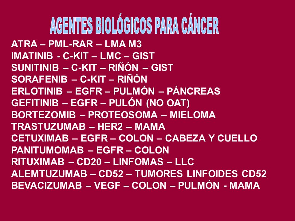 9,22 – ABL-BCR 12,22 – ATF-EWS – MELANOMA DE PARTES BLANDAS 11,14 – BCL1 – MANTO 14,18 – BCL2 – FOLICULAR 11,22 – FLI1-EWS – SARCOMA EWING 8,14 – C-MY