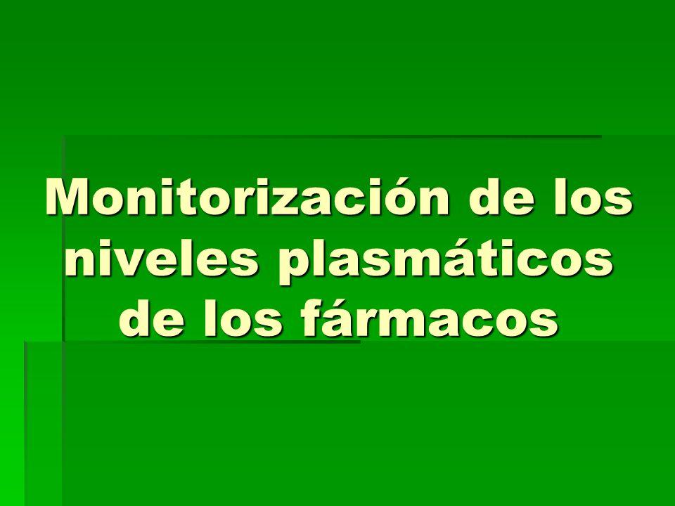Monitorización de los niveles plasmáticos de los fármacos