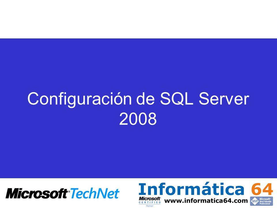 Configuración de SQL Server 2008