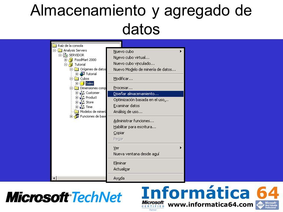 Almacenamiento y agregado de datos