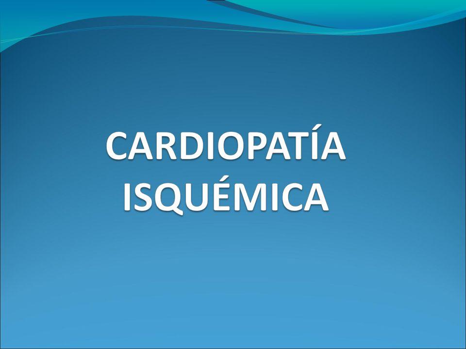 CLÍNICA Isquemia miocárdica transitoria Clínica cuando obstrucción >70%.
