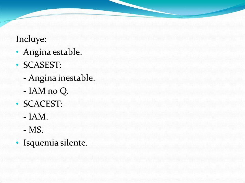 CAUSAS. AE, espasmo coronario, alteración de la microcirculación (Sd. X), MCH, EAo severa.