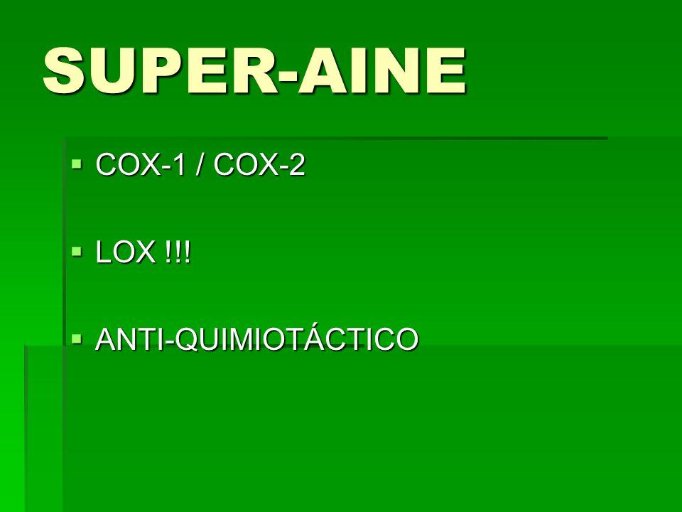 SUPER-AINE COX-1 / COX-2 COX-1 / COX-2 LOX !!! LOX !!! ANTI-QUIMIOTÁCTICO ANTI-QUIMIOTÁCTICO