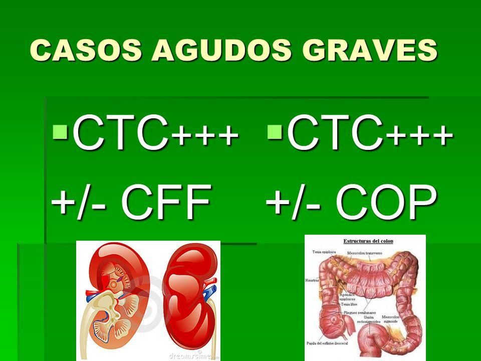 CASOS AGUDOS GRAVES CTC +++ CTC +++ +/- CFF CTC +++ CTC +++ +/- COP