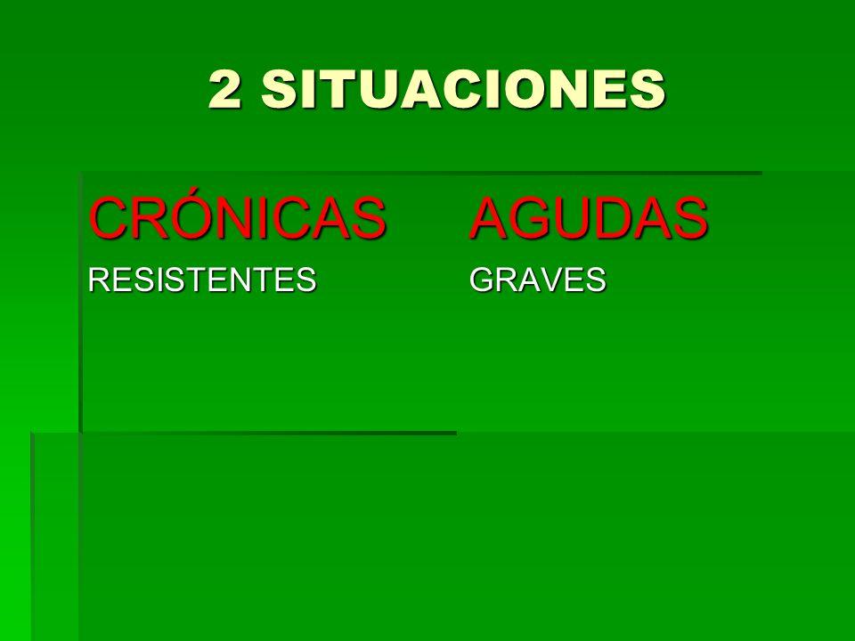2 SITUACIONES 2 SITUACIONES CRÓNICASRESISTENTESAGUDASGRAVES