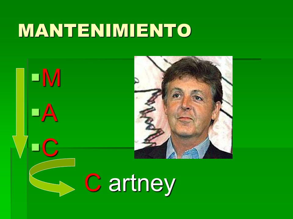 MANTENIMIENTO M A C C artney C artney