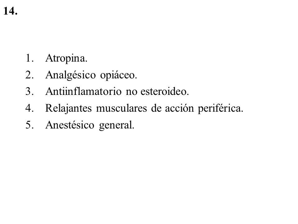 Medicación anestésica: Premedicación: –Midazolam o diacepan –AINEs: en el caso de que sea un paciente que entra con dolor al quirófano.