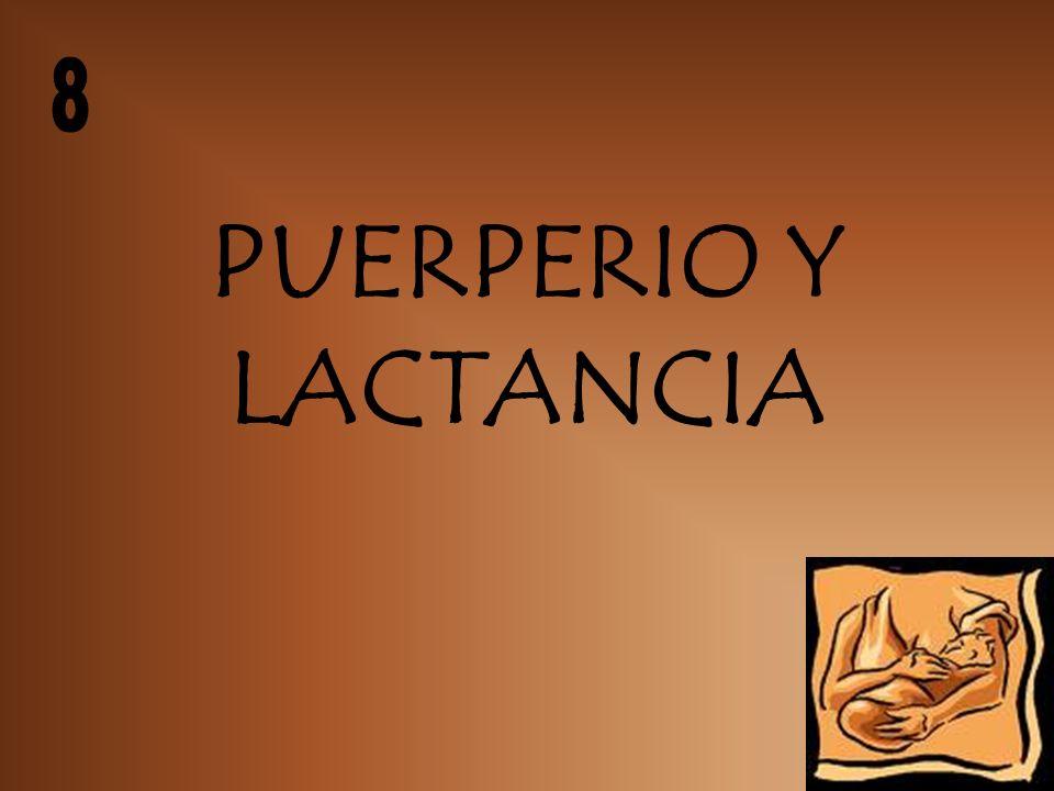 PUERPERIO Y LACTANCIA