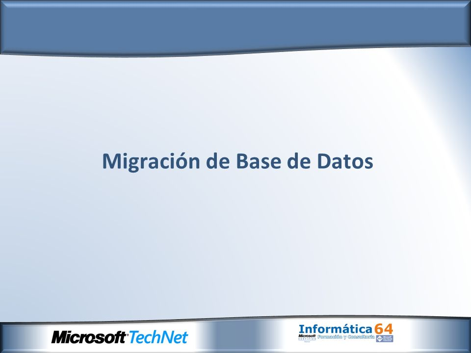 Actualización del Servidor a Microsoft SQL Server 2008