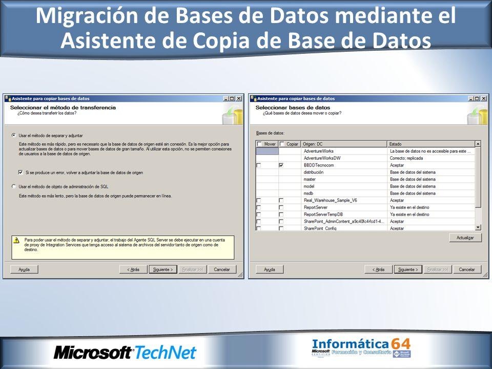 Migración a SQL Server 2008 desde Otros Entornos
