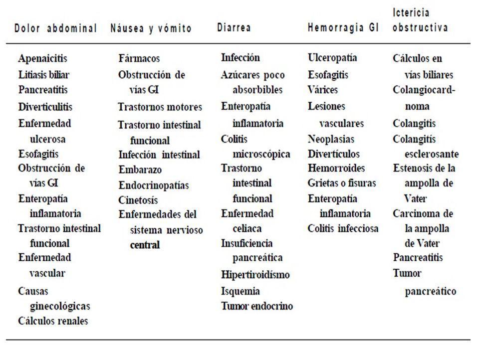 1- Carcinoma de esófago.2- Leiomioma esofágico. 3- Úlcera de esófago sobre Barrett.