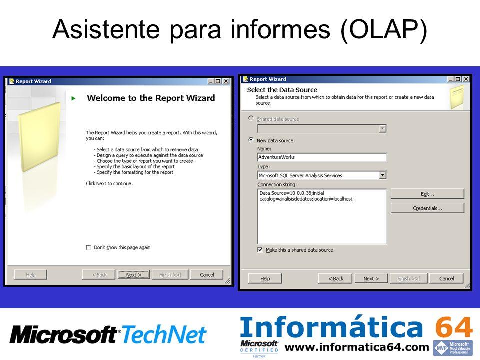 Asistente para informes (OLAP)