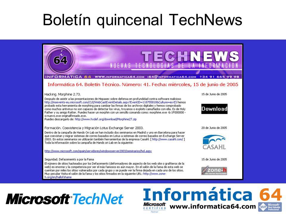 Boletín quincenal TechNews