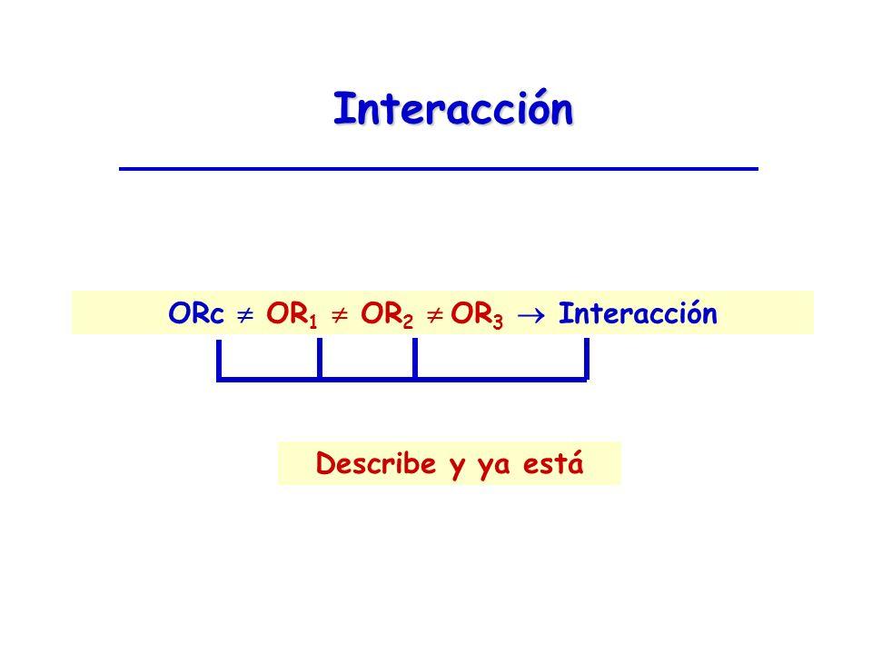Interacción ORc OR 1 OR 2 OR 3 Interacción Describe y ya está
