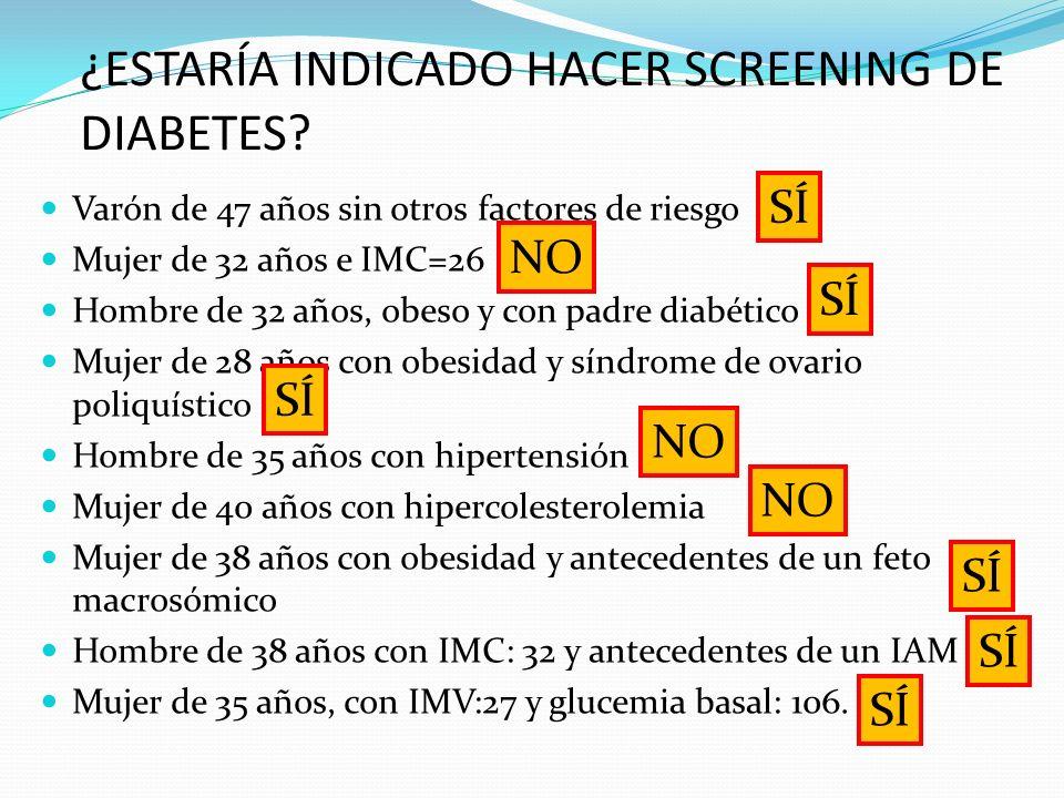 A pesar de 2 ADOs (metformina + gliptina)… HbA1C = 8.2% SE INSTAURÓ TTO CON INSULINA Caso 1: