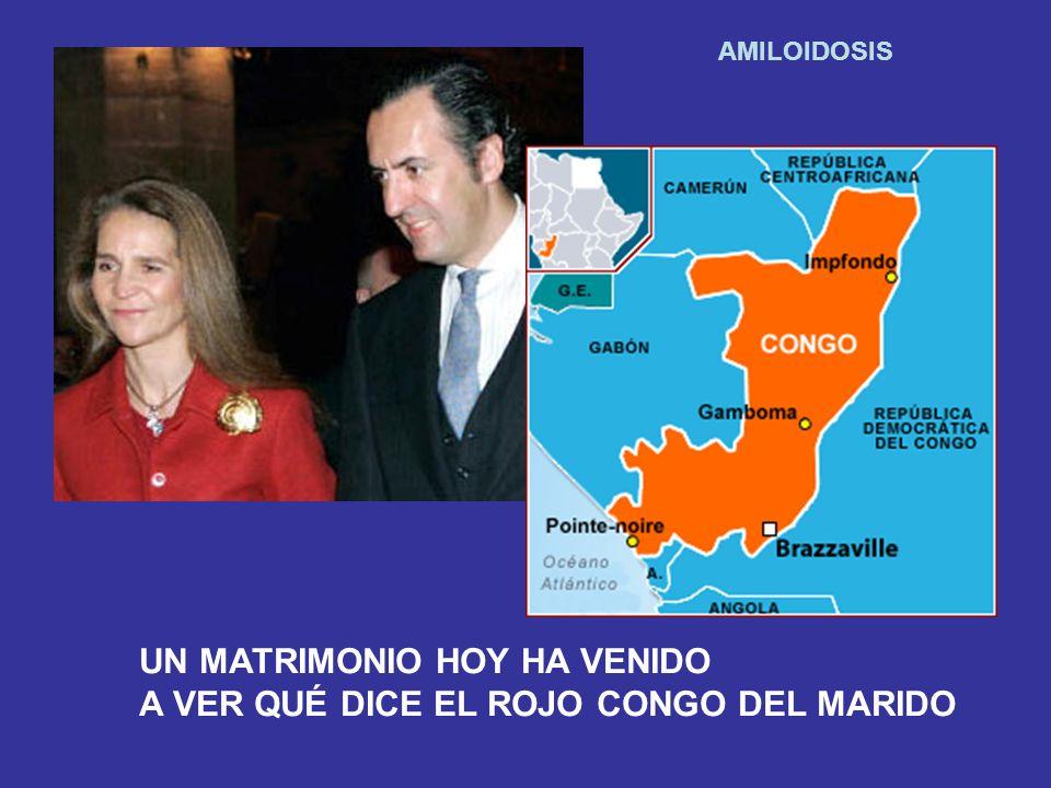 AMILOIDOSIS UN MATRIMONIO HOY HA VENIDO A VER QUÉ DICE EL ROJO CONGO DEL MARIDO