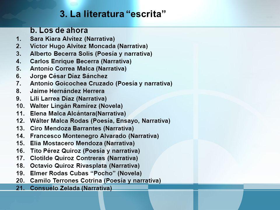 a.Los pioneros 1.Octavio Lingán Célis (Narrativa) 1.1.