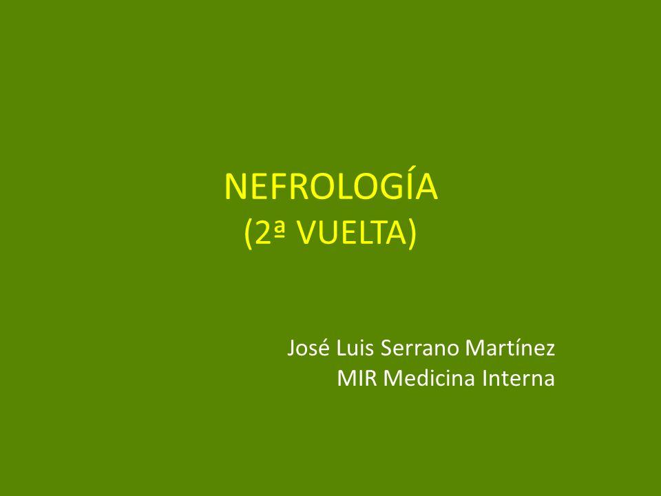 NEFROLOGÍA (2ª VUELTA) José Luis Serrano Martínez MIR Medicina Interna
