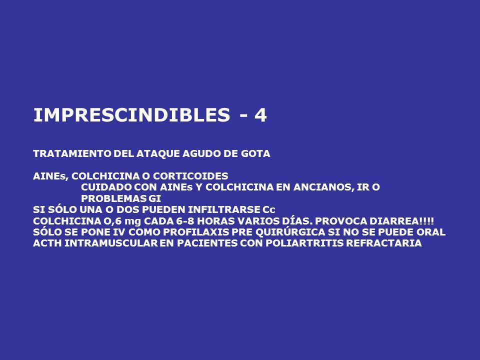 IMPRESCINDIBLES - 3 TRATAMIENTO DE LA HIPERCALCEMIA AGUDA LEVE (<12): SUERO SALINO SEVERA (13-15) TRATAMIENTO MÁS AGRESIVO SUERO + FUROSEMIDA + ZOLEDR