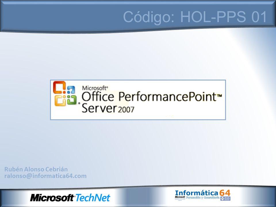 Agenda Plataforma de Inteligencia de negocio de Microsoft - SQL Server Integration Services - SQL Server Analysis Services - SQL Server Reporting Services Microsoft Office PerformancePoint Server 2007 - Introducción a los sistemas de gestión de rendimiento - Historia y Evolución del producto - Requisitos de instalación y configuración - Funcionalidades de Microsoft Office PerformancePoint Server 2007 - Planificación - Monitorización - Análisis - Modulo de Planificación - Servidor de Planificación - Modelador de planificación de negocio - Complemento de Microsof Office Excel 2007 para PerformancePoint 2007 - Módulo de Monitorización - Servidor de Monitorización - Diseñador de Paneles de mando - Módulo de Análisis - Integración de Proclarity Demo: Implementación de la aplicación de ejemplo Alpine Ski House