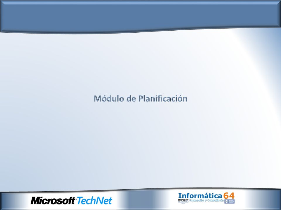 Servidor de planificación Consola de administración de planificación