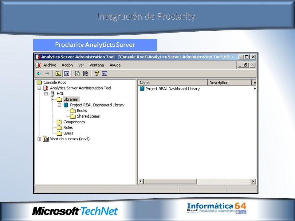Integración de Proclarity Proclarity Desktop Professional