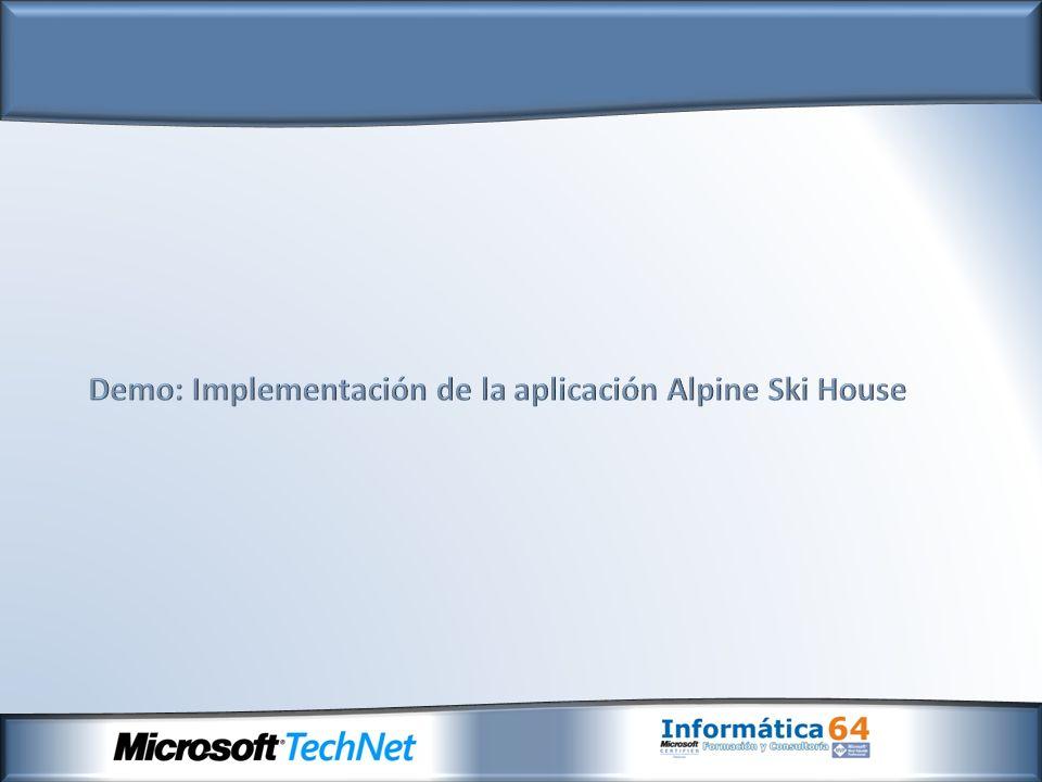 Demo: Implementación de la aplicación Alpine Ski House