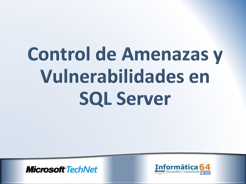 Problema: Elevación de Privilegios Resultado: Accesos no deseados/Ejecución de sentencias perjudiciales/Degradación del rendimiento, etc Ejemplo: Vulnerabilidad en la reutilización de páginas de memoria (http://en.securitylab.ru/notification/355705.php)http://en.securitylab.ru/notification/355705.php Solución: Reducción del Área Expuesta (http://www.microsoft.com/technet/security/bulletin/ms08-040.mspx)
