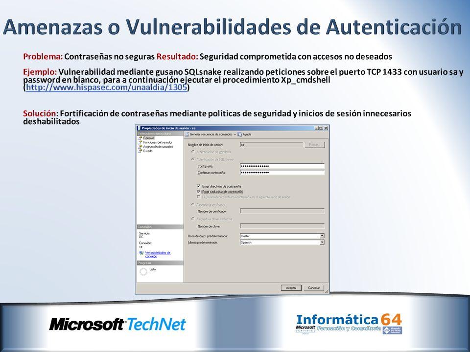 Amenazas o Vulnerabilidades de Autenticación