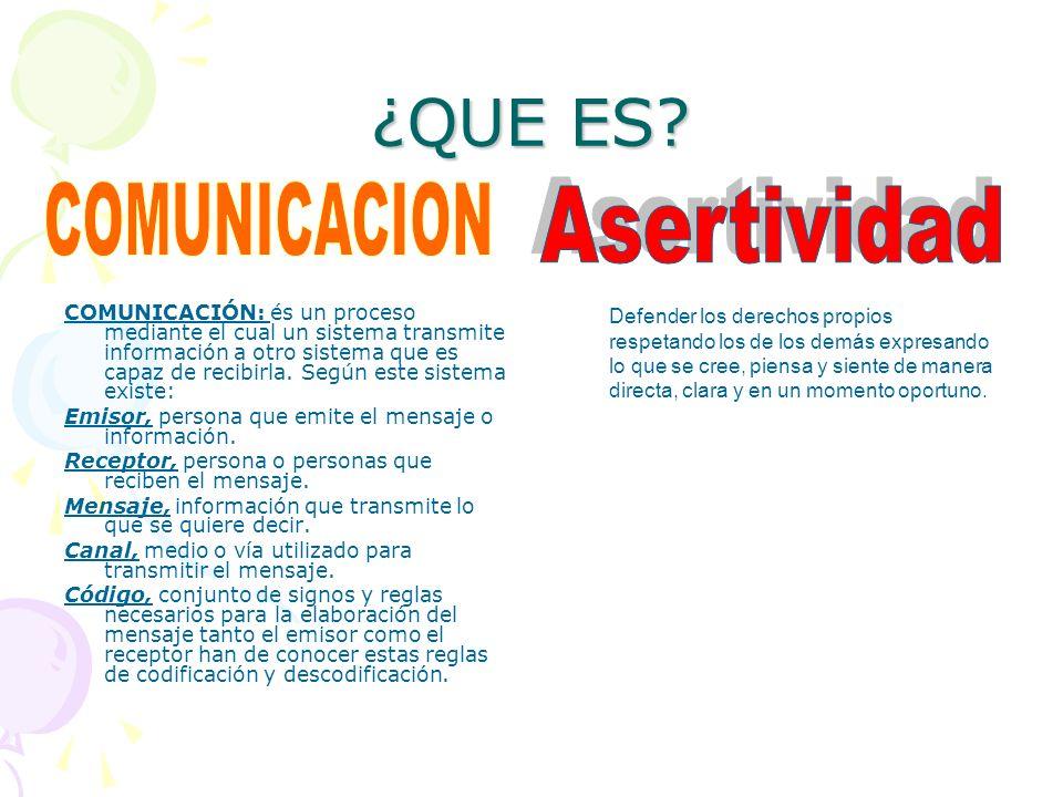 ¿QUE ES? COMUNICACIÓN: és un proceso mediante el cual un sistema transmite información a otro sistema que es capaz de recibirla. Según este sistema ex
