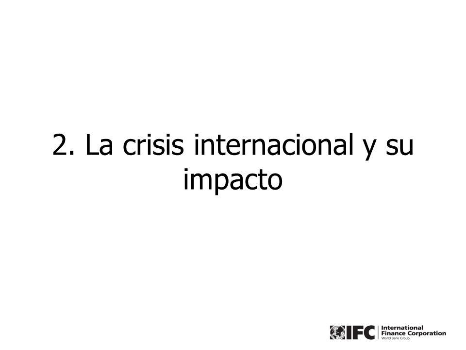 8 Efecto rezagado de la crisis No está clara la profundidad que alzanzará la crisis internancional y su impacto en la economía peruana.