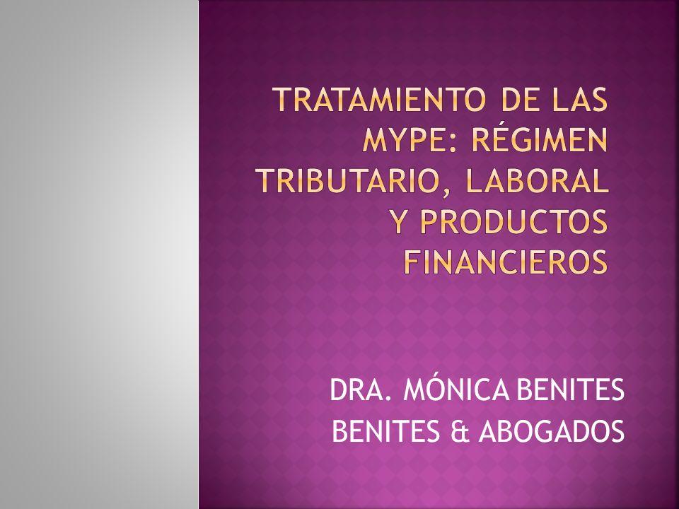 DRA. MÓNICA BENITES BENITES & ABOGADOS