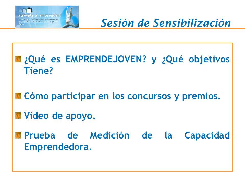 Qué es y Objetivos Proyecto promovido por la Consejería de Innovación, Ciencia y Empresa a través de la Fundación Red Andalucía Emprende, en colaboración con la Consejería de Educación.