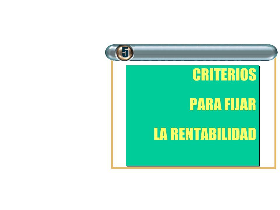CRITERIOS PARA FIJAR LA RENTABILIDAD CRITERIOS PARA FIJAR LA RENTABILIDAD5