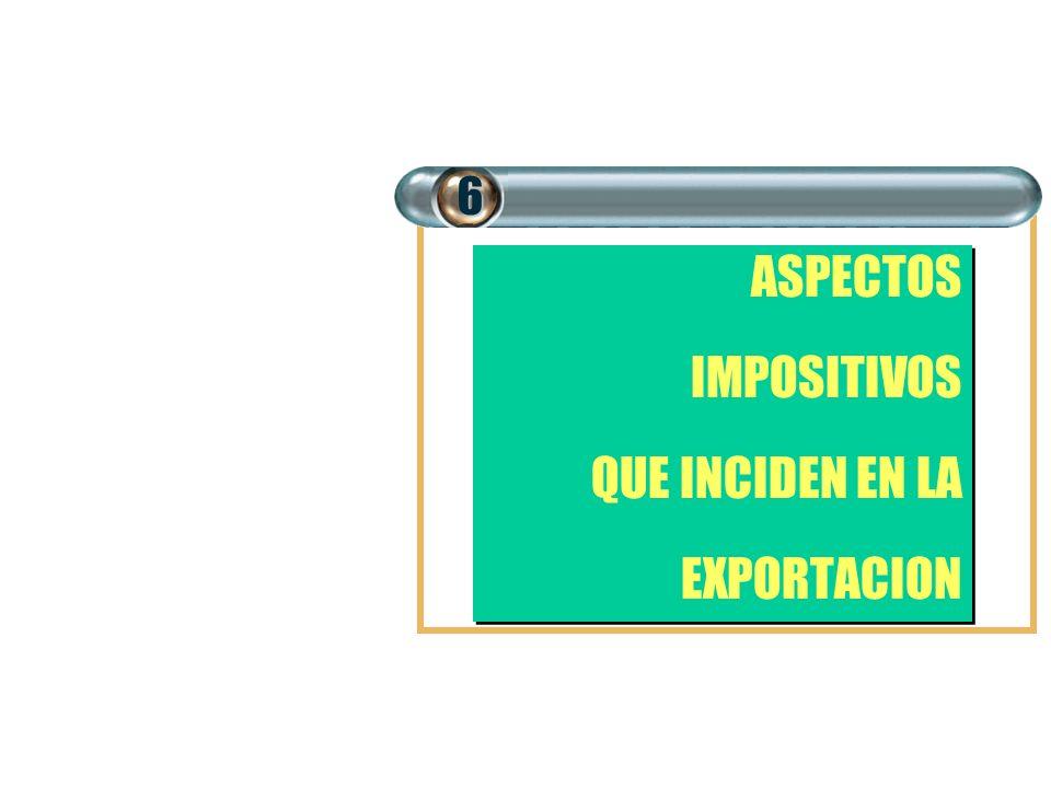 ASPECTOS IMPOSITIVOS QUE INCIDEN EN LA EXPORTACION ASPECTOS IMPOSITIVOS QUE INCIDEN EN LA EXPORTACION6