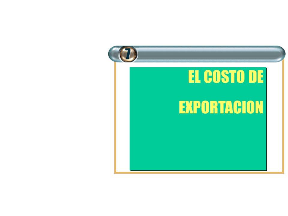 EL COSTO DE EXPORTACION EL COSTO DE EXPORTACION7