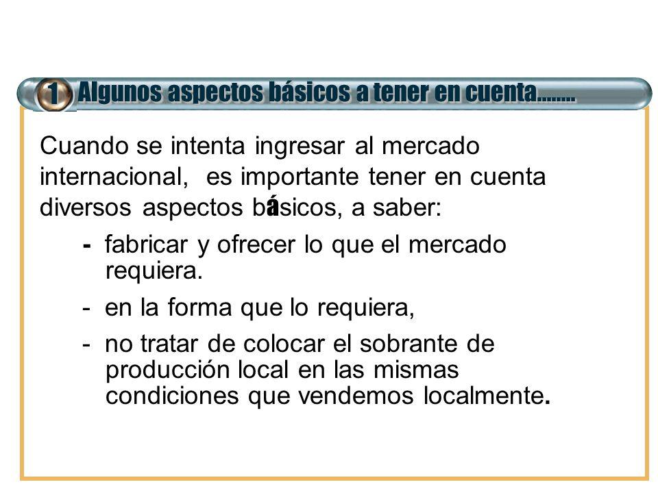 7 El costo de exportación 6.INCENTIVOS PROMOCIONALES 6.1.