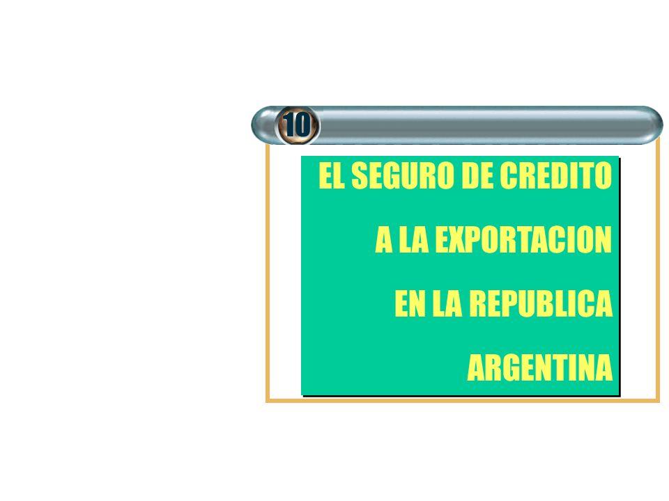 EL SEGURO DE CREDITO A LA EXPORTACION EN LA REPUBLICA ARGENTINA EL SEGURO DE CREDITO A LA EXPORTACION EN LA REPUBLICA ARGENTINA10