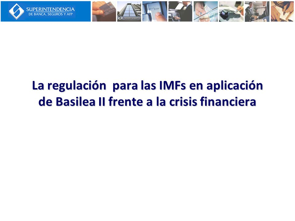 Cambios de ponderadores Ley actual: Basilea I Basilea II Perú Reglamento RC Créditos con Corporativas, grandes y medianas empresas 100%100% salvo Mec.