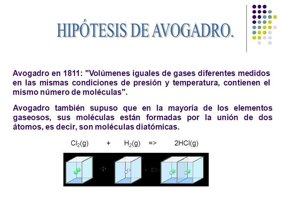 Las hipótesis atómicas fueron unas teorías emitidas por Dalton en el año 1808, tratando de explicar las tres leyes ponderales.
